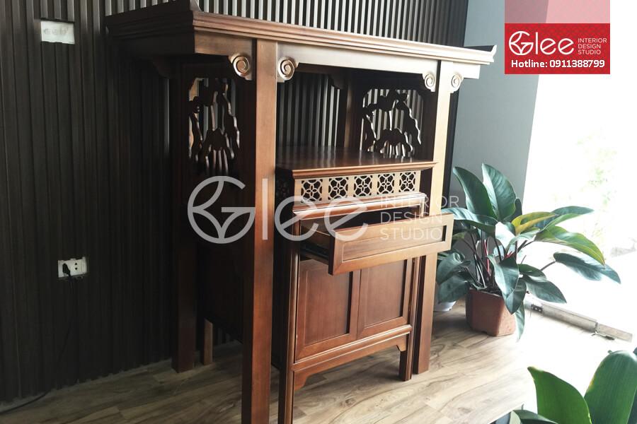 Mẫu bàn thờ đẹp cao cấp gỗ gụ - GTT25