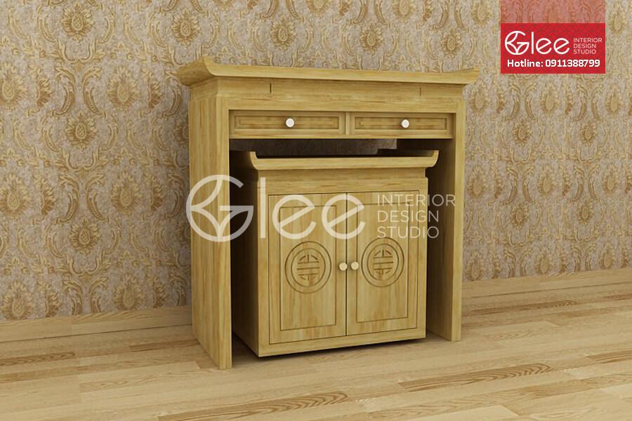 Bàn thờ gỗ sồi Nga - GTT12