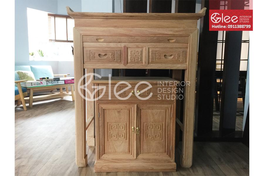 Bàn tủ thờ gỗ gõ đỏ đẳng cấp - GTT31